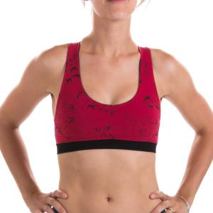 SATURN Hunt  Eco Sports Bra RED (for big boobs too!)