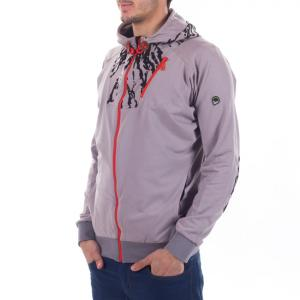 JONNI  Light Weight ORGANIC COTTON Printed Hoodie Pebble