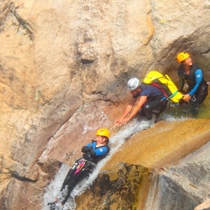Canyoning with a guide