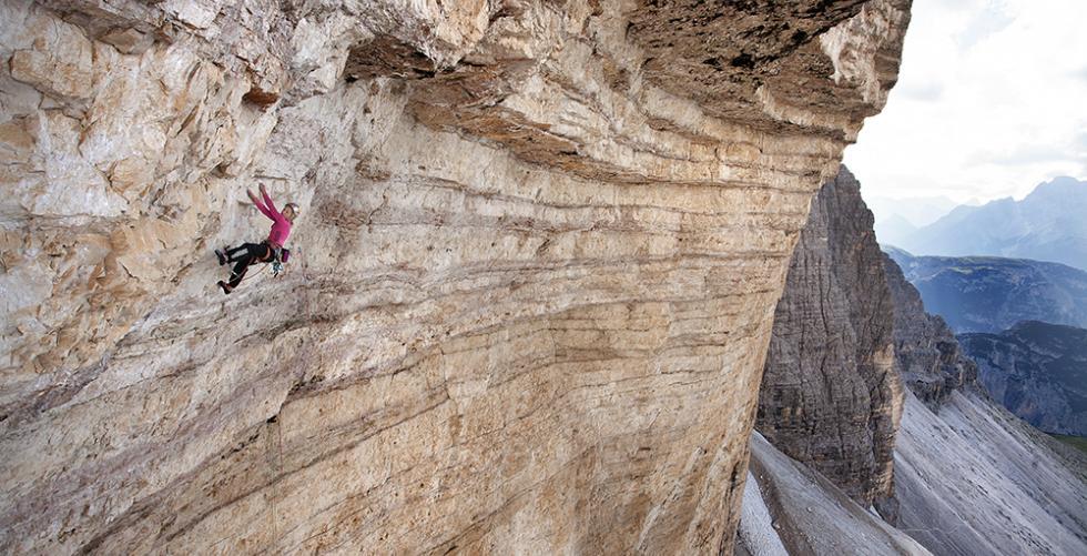 Climbing Bellavista in Tre Cime di Lavaredo
