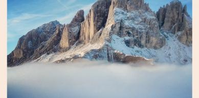 A picture from Sassolungo mountain by Etienne Bernard