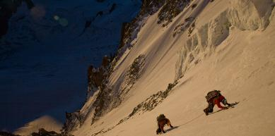A picture from Mont Blanc du Tacul by Jon Griffith