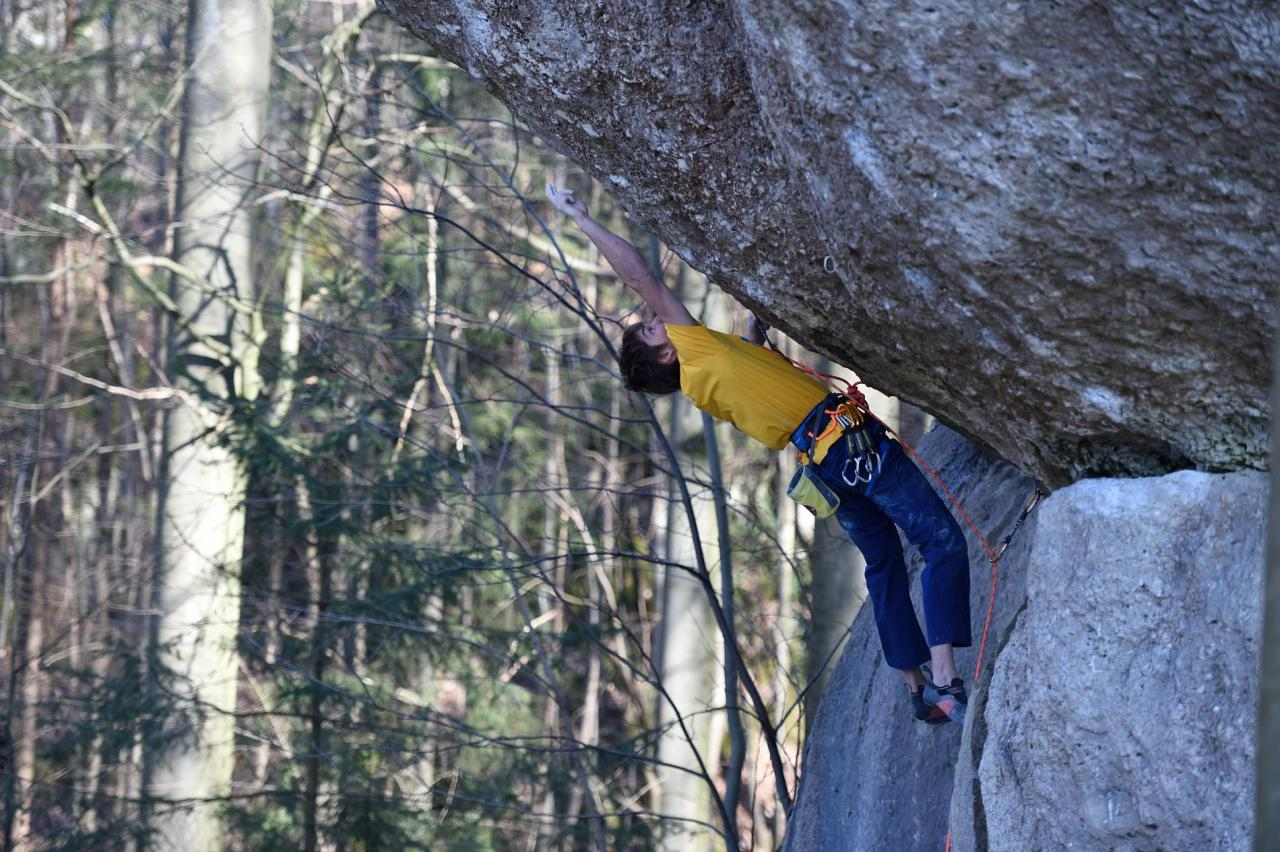 A picture from Frankenjura by Mammut