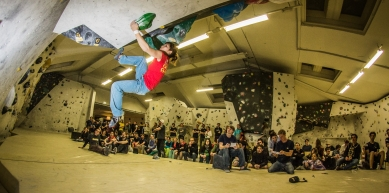 A picture from Kletterhalle Wien by Salewa