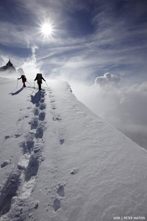 A picture from Aiguille du Midi by MSR / Mountain Safety Research