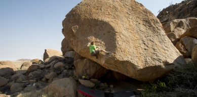 A picture from Spitzkoppe by Black Diamond