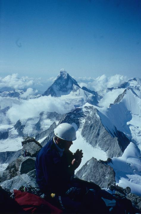 A picture from Zinalrothorn by Bob Worth
