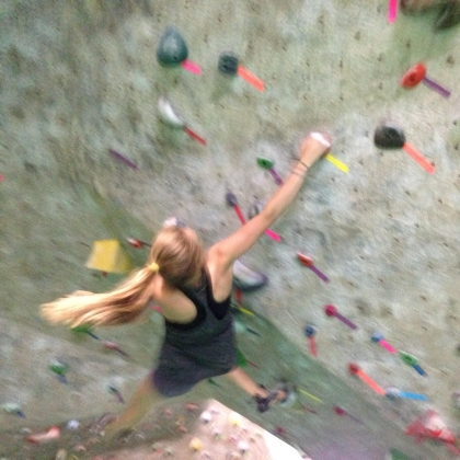 Boulders Climbing Gym by Lydia Hester