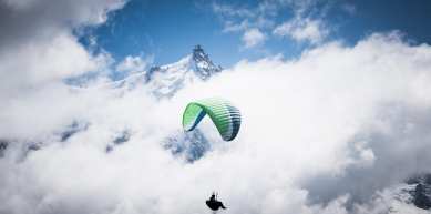 A picture from Aiguille du Midi by Michi Wohlleben