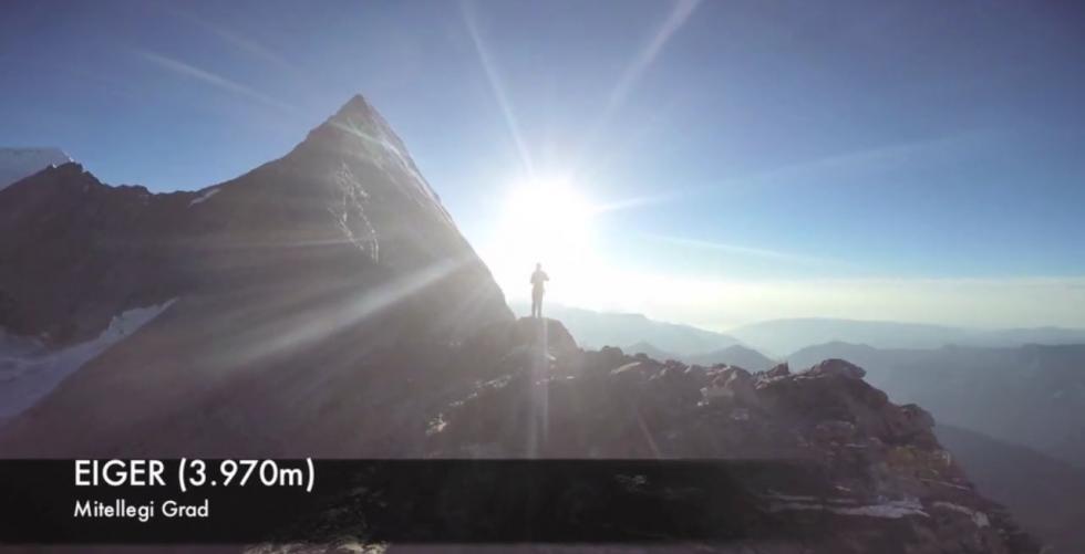 Eiger. Mitellegigrat in Eiger