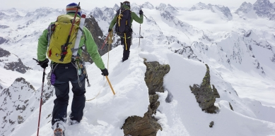 A picture from Silvretta by MSR / Mountain Safety Research