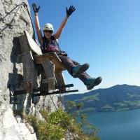 Drachenwand Klettersteig St Lorenz Mondsee by Michaela Brochmann