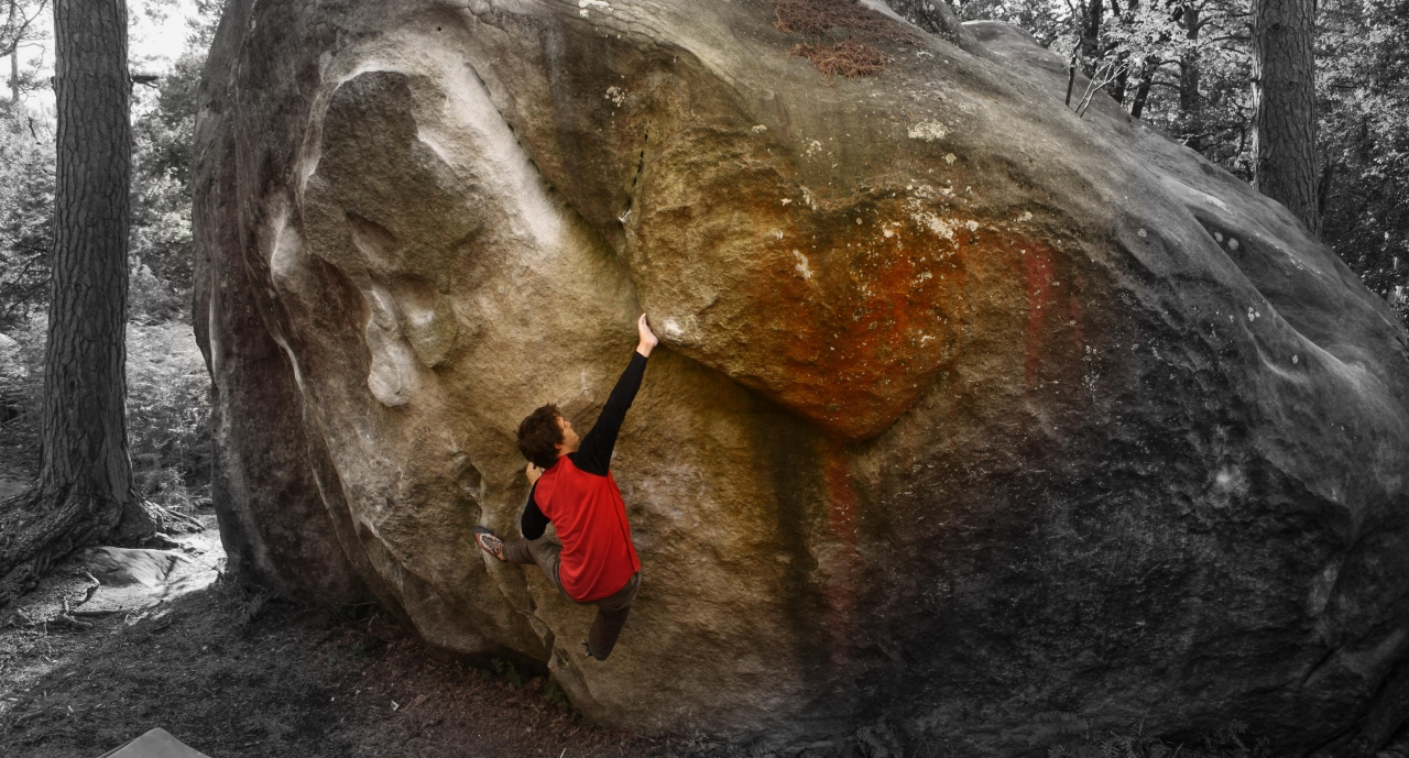 A picture from Fontainebleau by Globe Climber