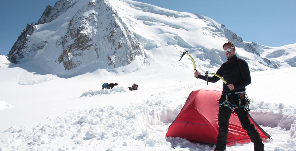 Mont Blanc - Tre Monts route in Mont Blanc du Tacul