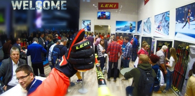 A picture from ISPO, München by LEKI