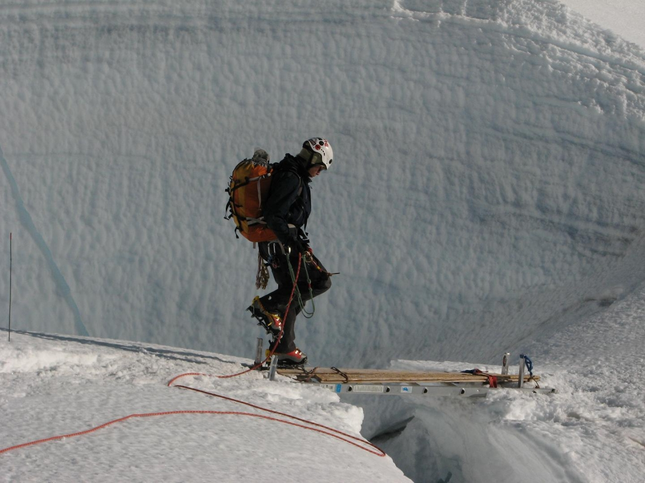 A picture from Disapointment Cleaver, Mt Rainier by MSR / Mountain Safety Research