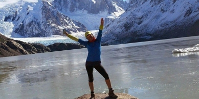 A picture from Cerro Torre by Araceli Aguilar