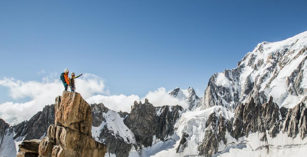 Voie Lepiney - Trident du Tacul in Chamonix - Mont Blanc
