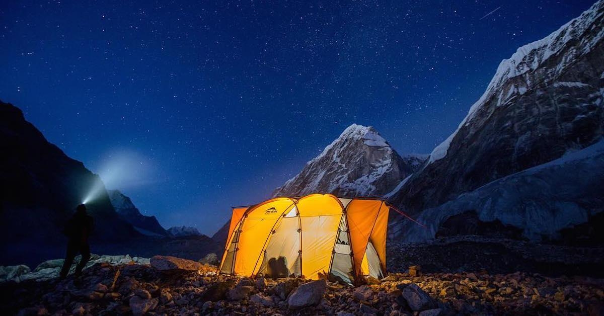 A picture from Ama Dablam by MSR / Mountain Safety Research