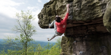 A picture from Děčínský Sněžník / Hoher Schneeberg by BlocBusters Bouldering