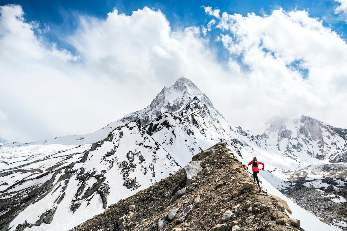 A picture from Tapovan, Mt. Shivling by Dynafit