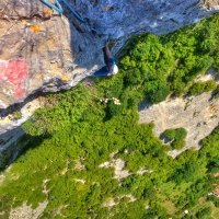 Blagaj, cliff above the cave of Buna, Bosnia & Heryegovina by Vertikale Bewegung – Viola