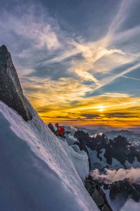 A picture from Grandes Jorasses by Sylvain Mauroux