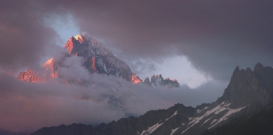 A picture from Aiguille verte by Mic Huizinga