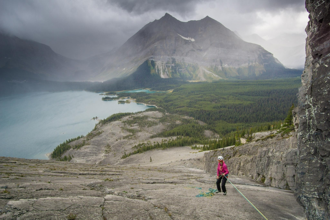 A picture from Mount Indefatigable, Kananaskis, AB, Canada by Jan Zahula