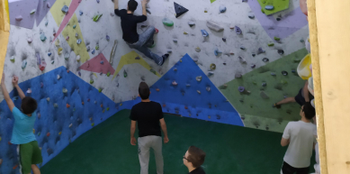 A picture from Debrecen-Csipi boulder gym by Zoltan Kovacs