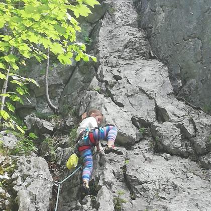 Klettern am plombergstein by Alexander Blaum