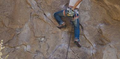 A picture from Holcomb Valley Pinnacles  by island climbing