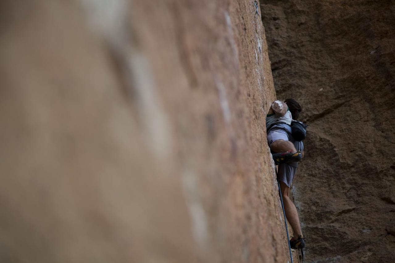 A picture from Smith Rock by island climbing