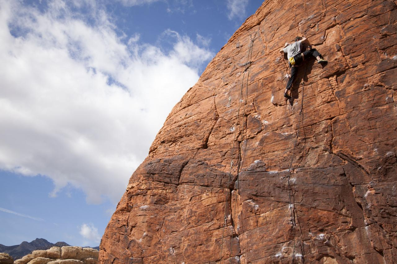 A picture from Red Rocks by island climbing
