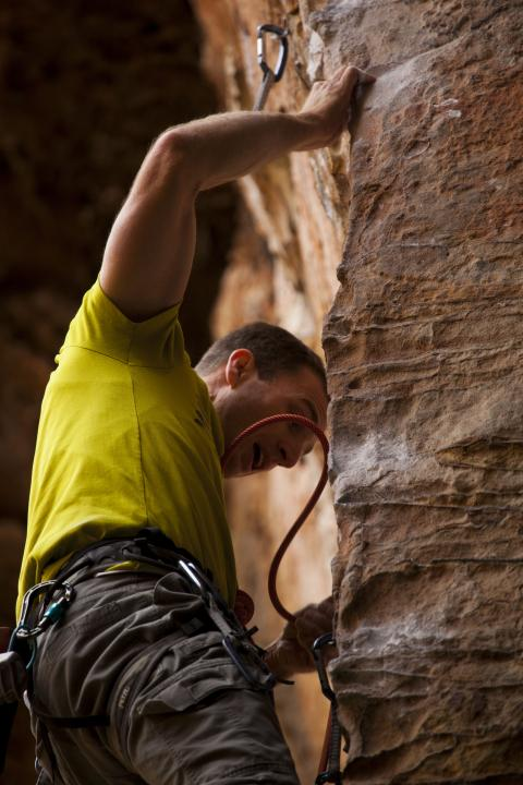 A picture from The Red River Gorge (RRG) by island climbing