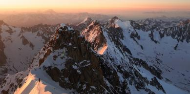 A picture from Aiguille verte by Jan Zahula