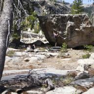 Tahoe lake by island climbing