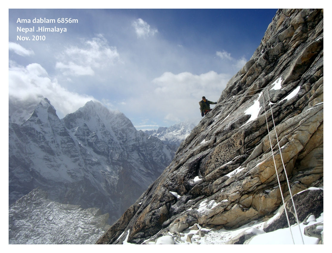 A picture from Ama Dablam by Amir Zarrin
