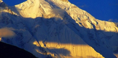 A picture from Sunset over peak rakaposhi ( 7788 M ) , one of the beautiful peaks in Pakistan by Hunza Guides  pakistan